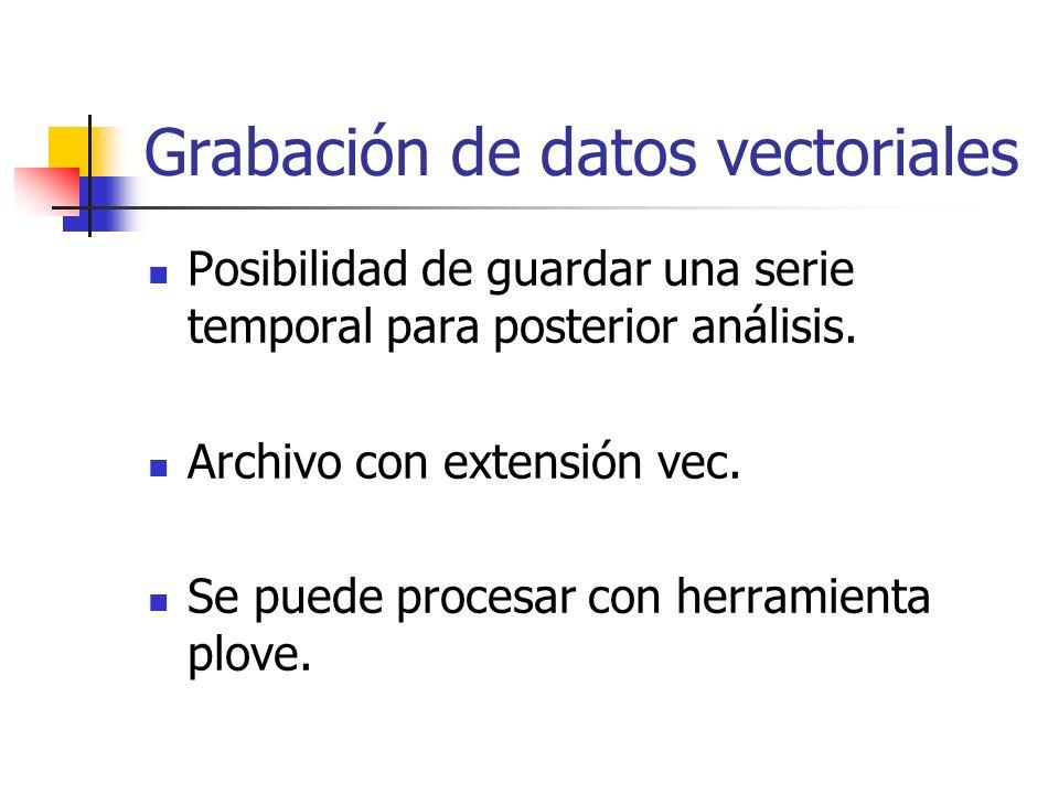Grabación de datos vectoriales