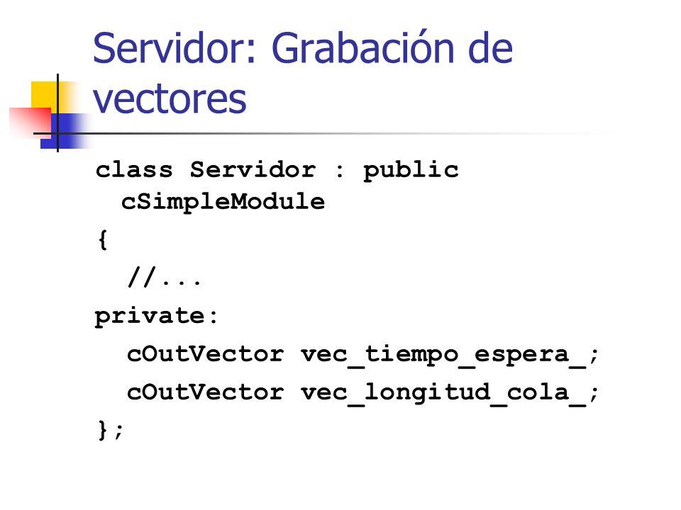 Servidor: Grabación de vectores