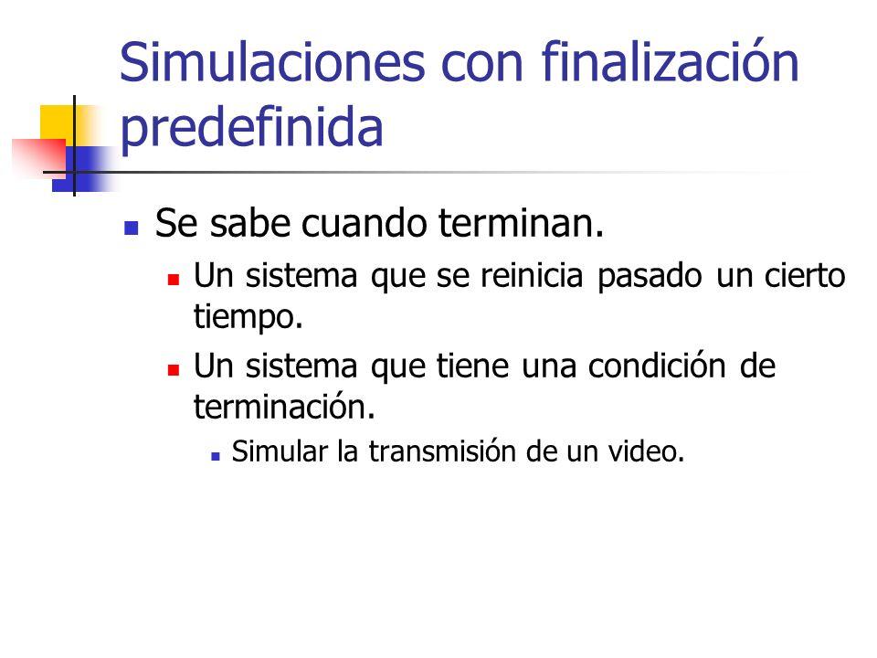 Simulaciones con finalización predefinida