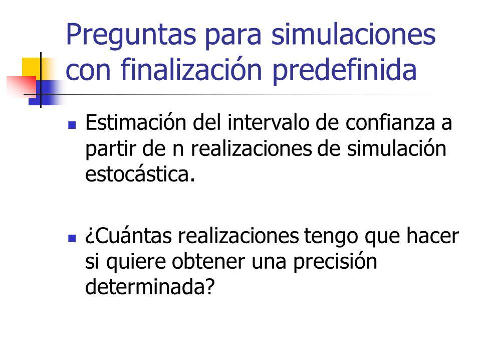 Preguntas para simulaciones con finalización predefinida