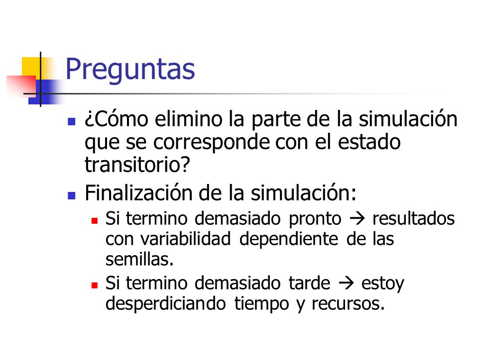 Preguntas ¿Cómo elimino la parte de la simulación que se corresponde con el estado transitorio Finalización de la simulación: