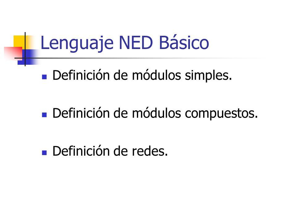 Lenguaje NED Básico Definición de módulos simples.