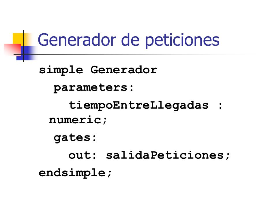 Generador de peticiones