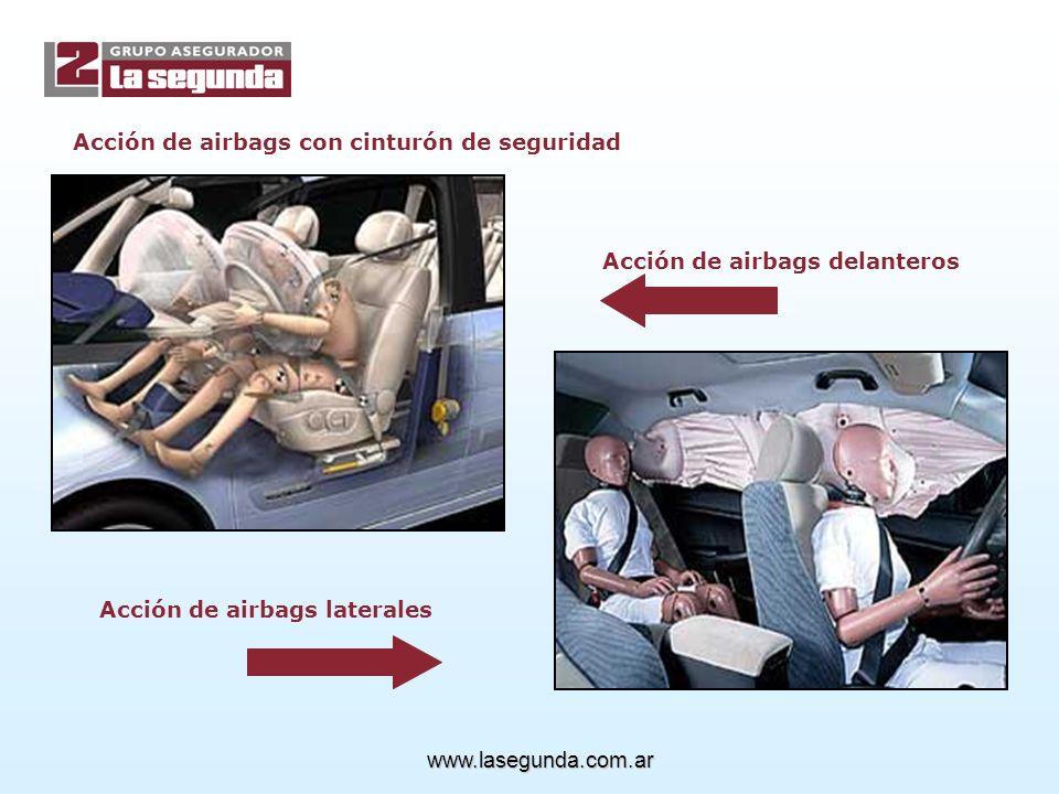 Acción de airbags con cinturón de seguridad