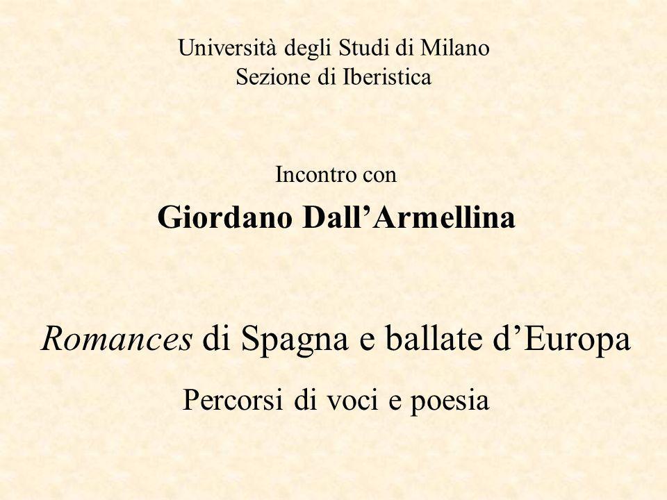 Università degli Studi di Milano Sezione di Iberistica