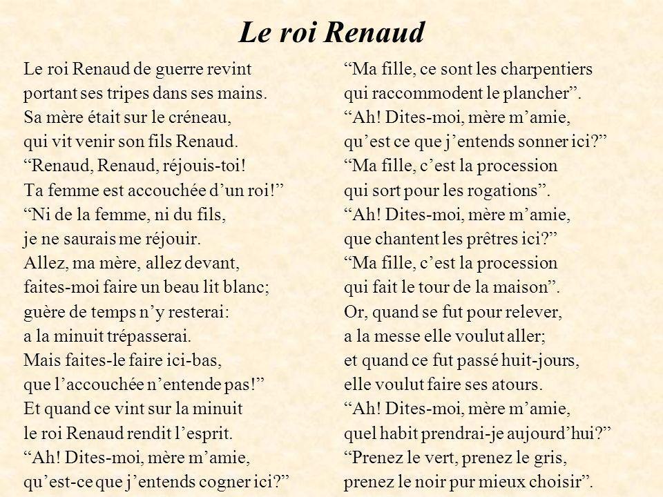 Le roi Renaud Le roi Renaud de guerre revint
