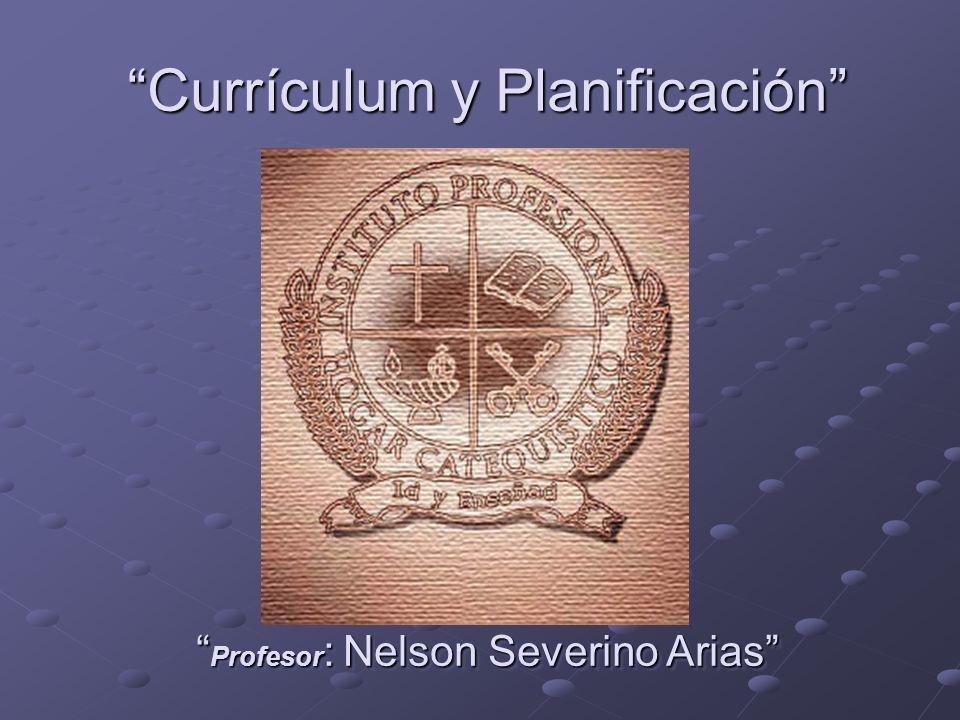 Currículum y Planificación