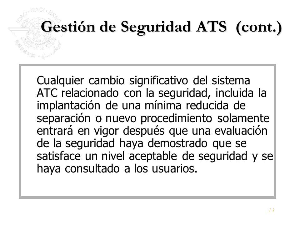 Gestión de Seguridad ATS (cont.)