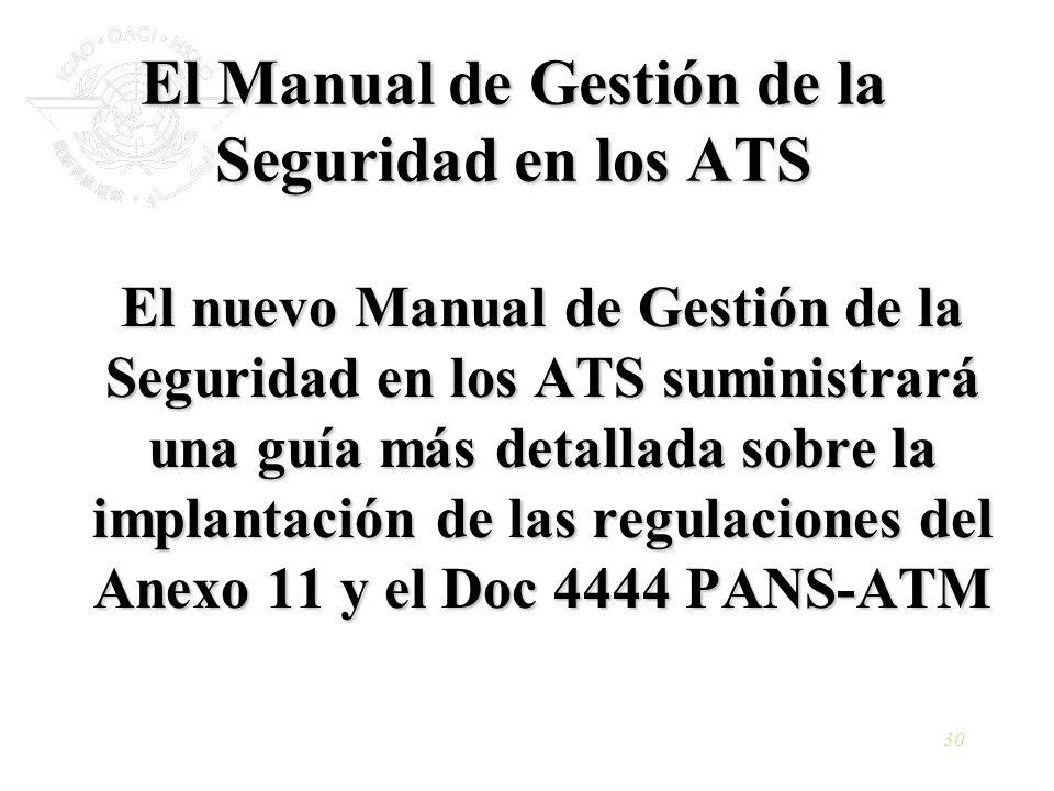 El Manual de Gestión de la Seguridad en los ATS