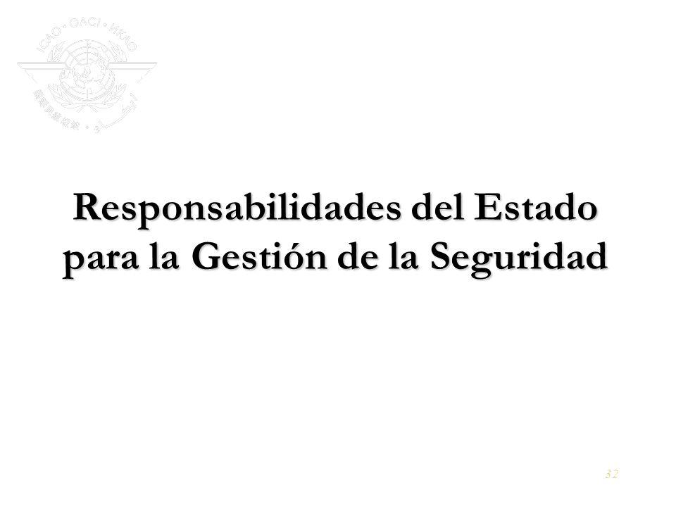 Responsabilidades del Estado para la Gestión de la Seguridad