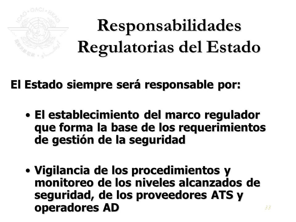 Responsabilidades Regulatorias del Estado