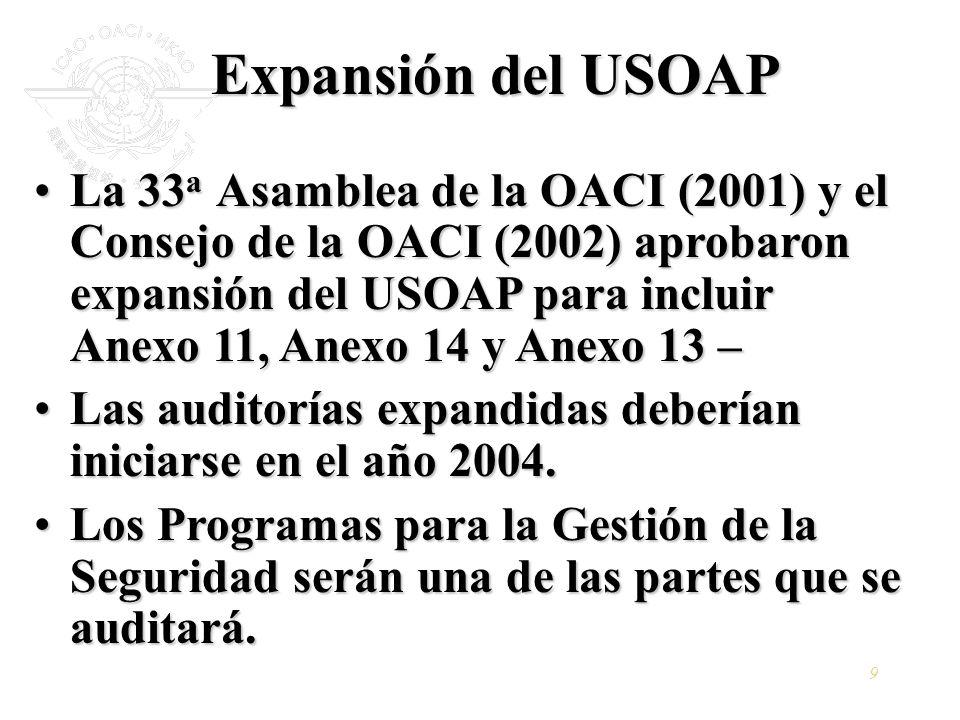 Expansión del USOAP