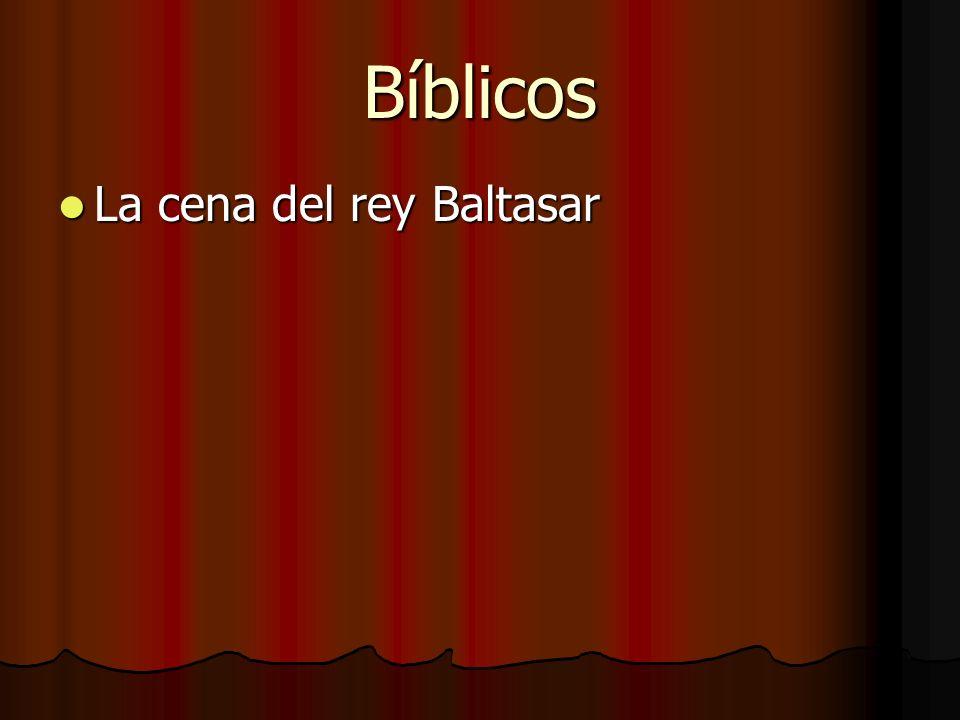 Bíblicos La cena del rey Baltasar