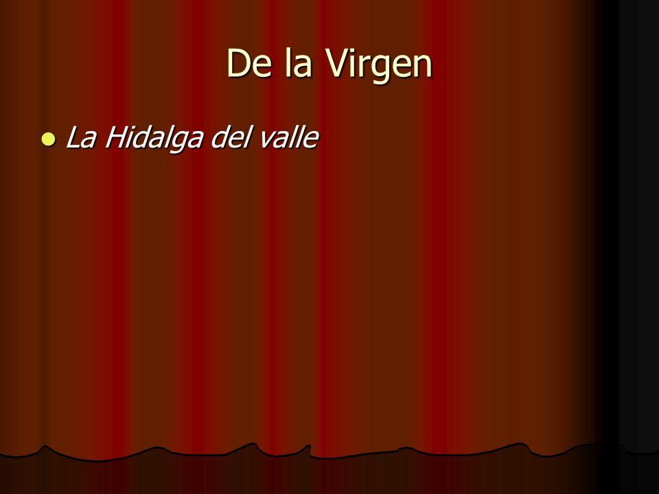 De la Virgen La Hidalga del valle