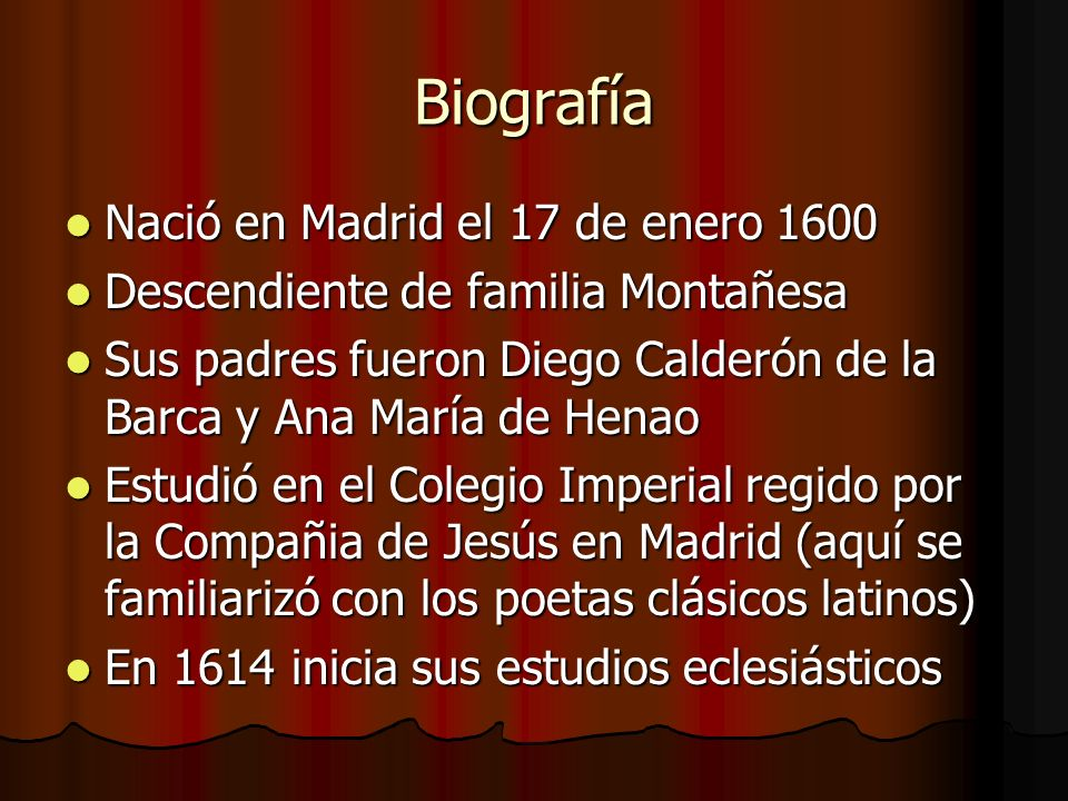 Biografía Nació en Madrid el 17 de enero 1600