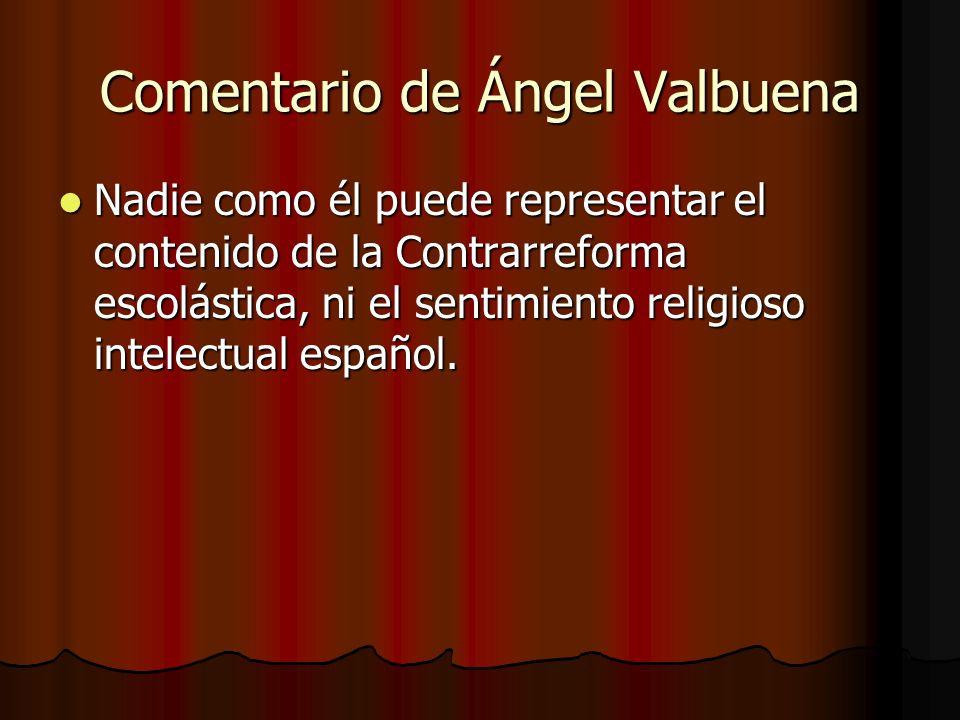 Comentario de Ángel Valbuena