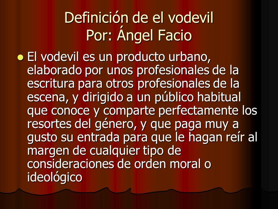 Definición de el vodevil Por: Ángel Facio