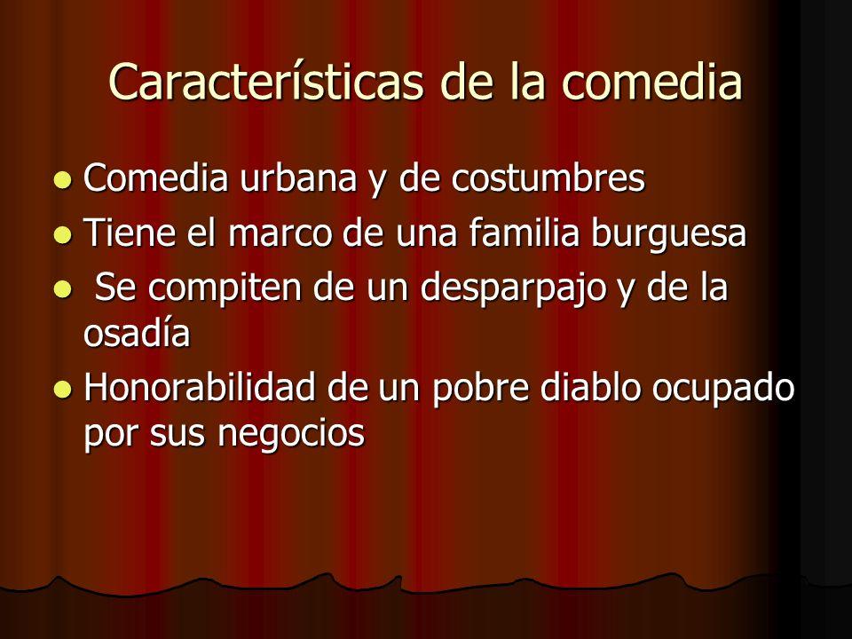 Características de la comedia