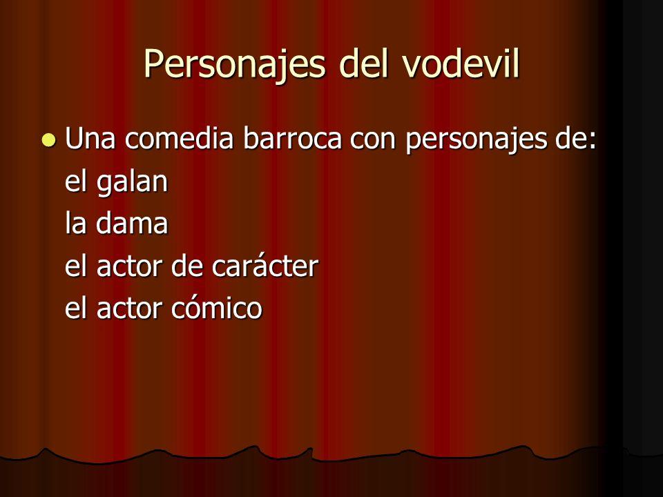Personajes del vodevil
