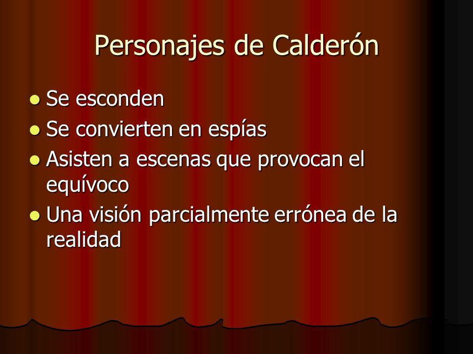 Personajes de Calderón