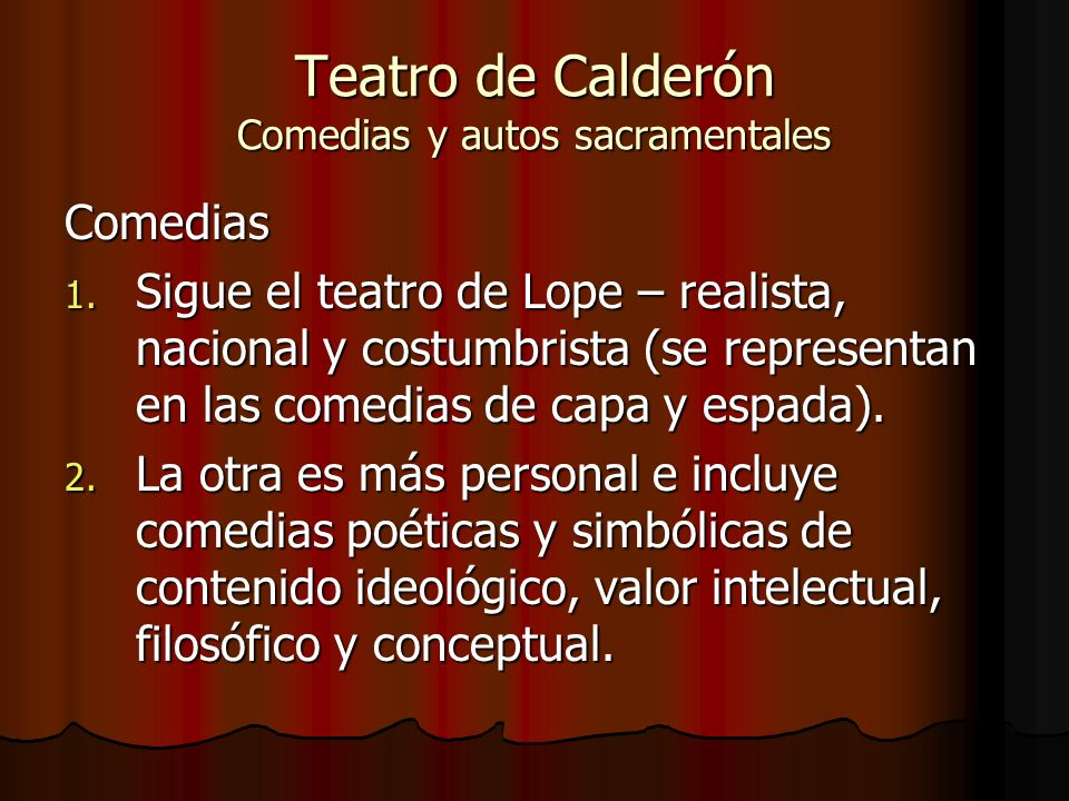 Teatro de Calderón Comedias y autos sacramentales