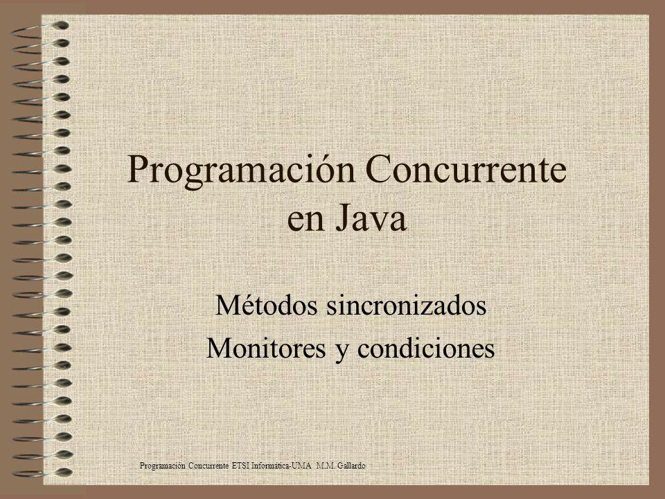 Programación Concurrente en Java
