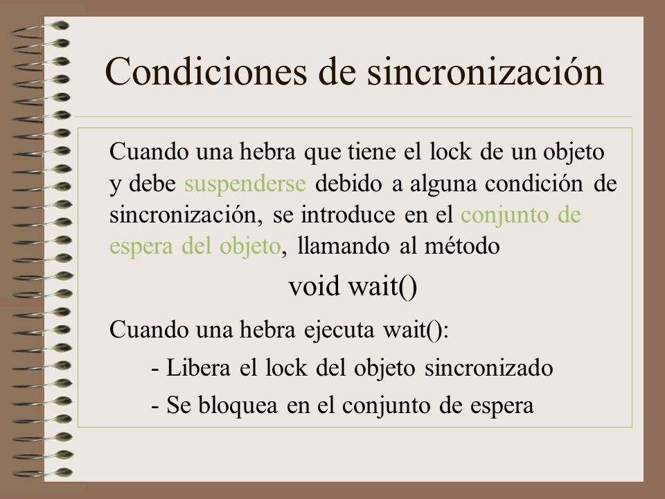Condiciones de sincronización