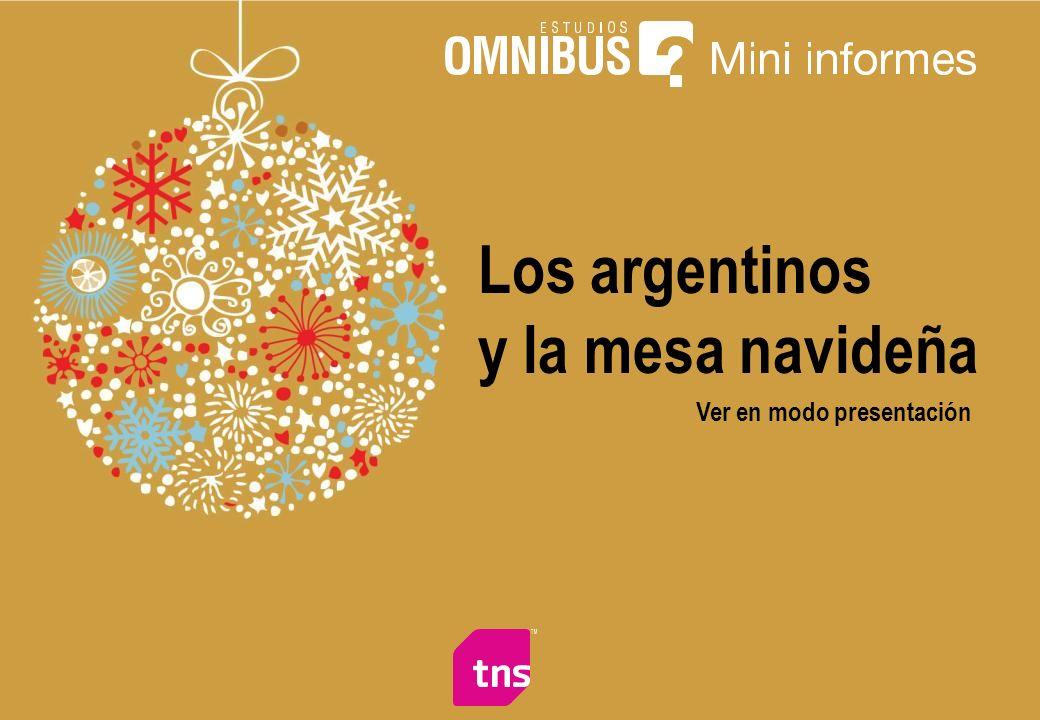 Los argentinos y la mesa navideña Ver en modo presentación