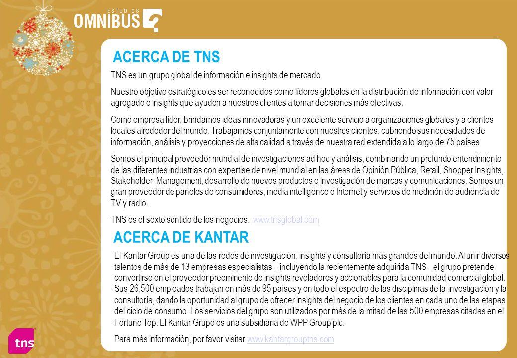 ACERCA DE TNS ACERCA DE KANTAR