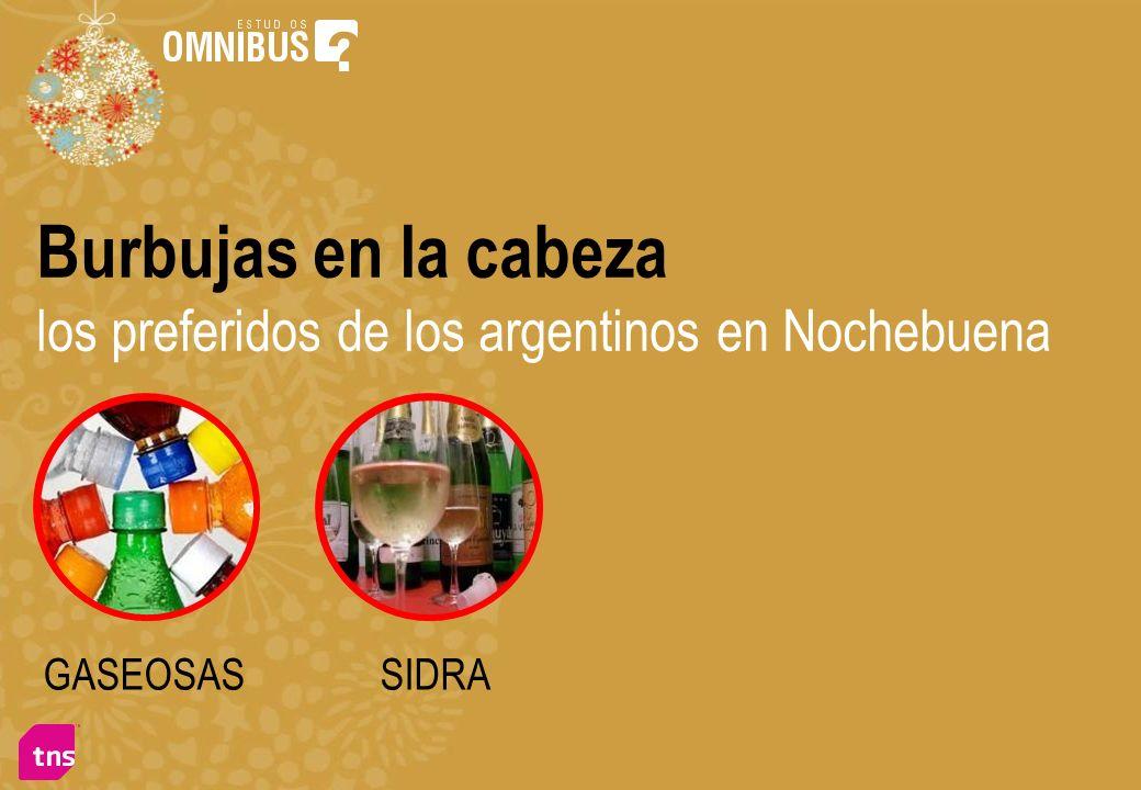 Burbujas en la cabeza los preferidos de los argentinos en Nochebuena