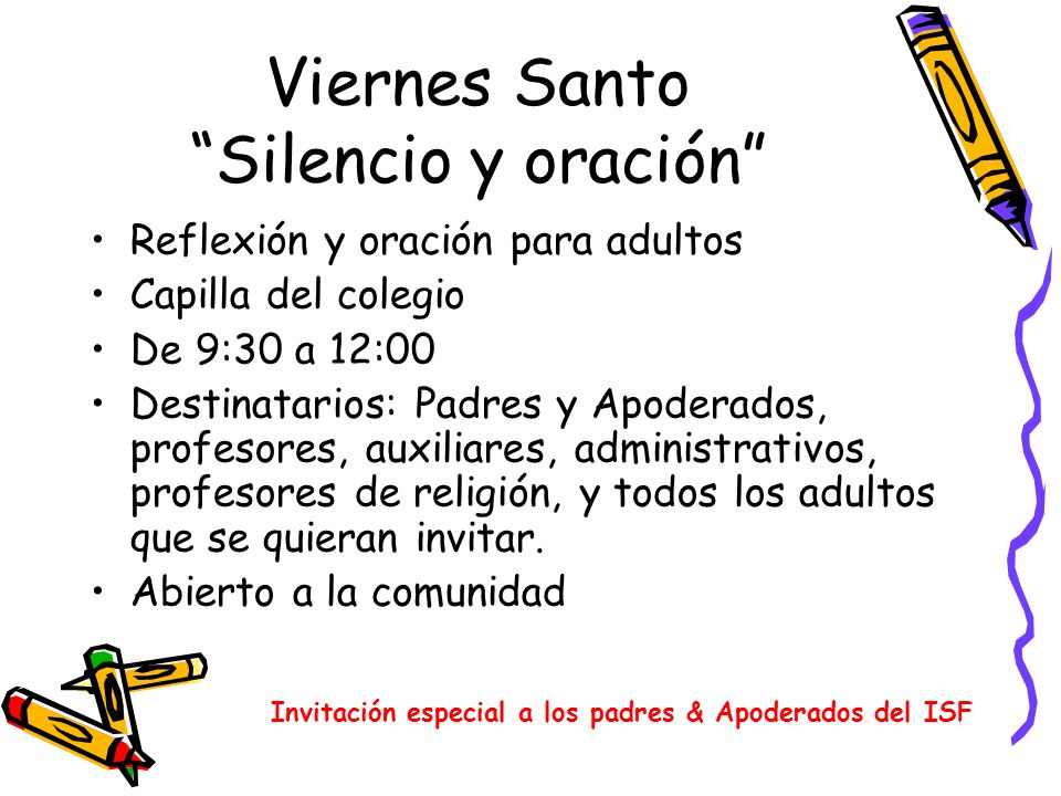 Viernes Santo Silencio y oración