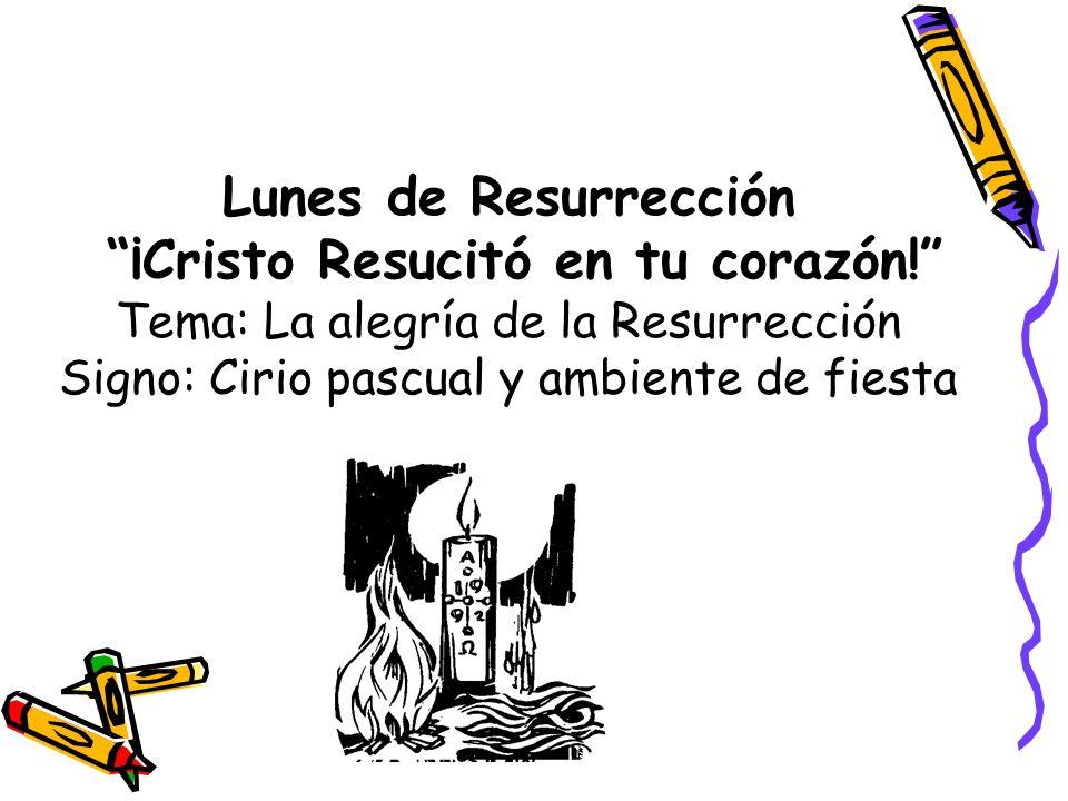 Lunes de Resurrección ¡Cristo Resucitó en tu corazón