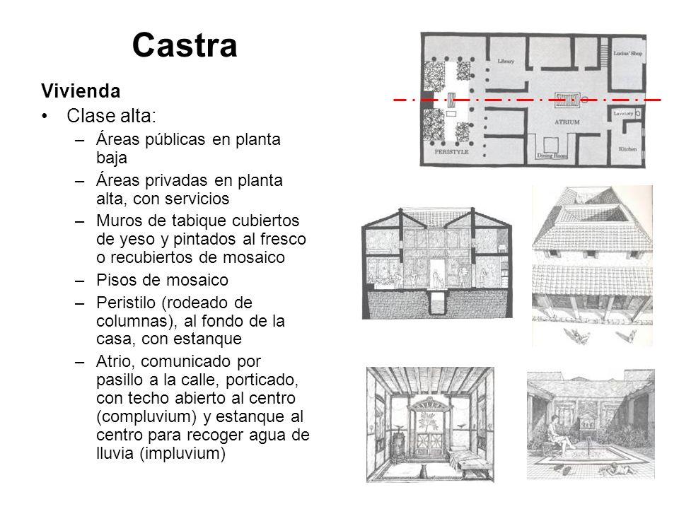 Castra Vivienda Clase alta: Áreas públicas en planta baja