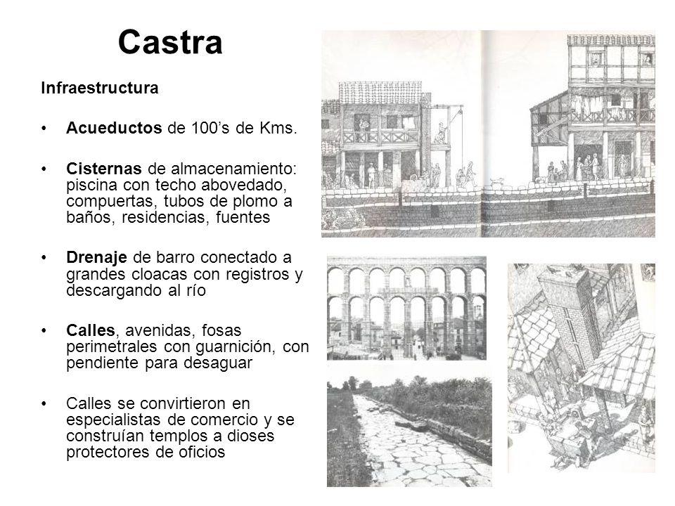 Castra Infraestructura Acueductos de 100's de Kms.