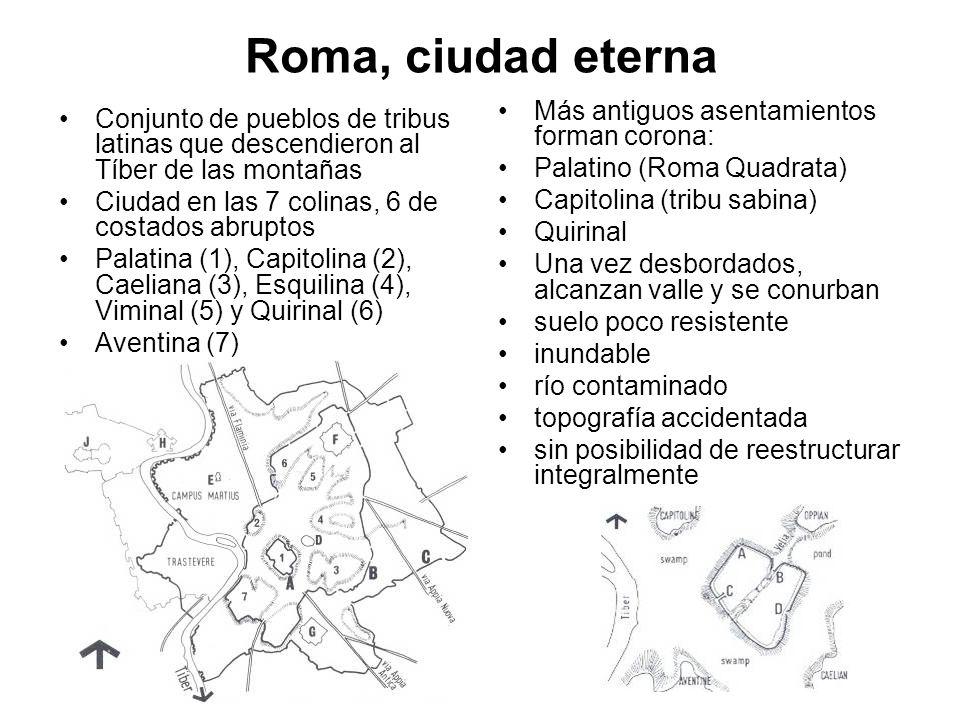Roma, ciudad eterna Más antiguos asentamientos forman corona: