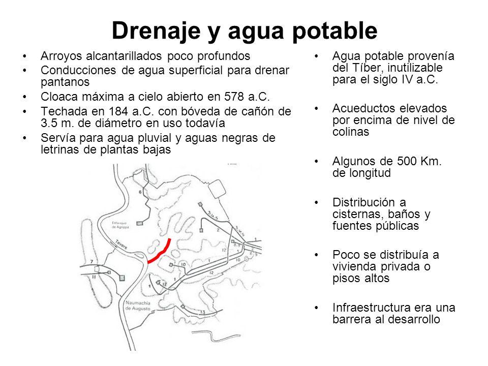 Drenaje y agua potable Arroyos alcantarillados poco profundos
