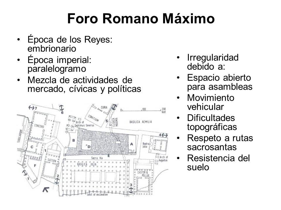 Foro Romano Máximo Época de los Reyes: embrionario
