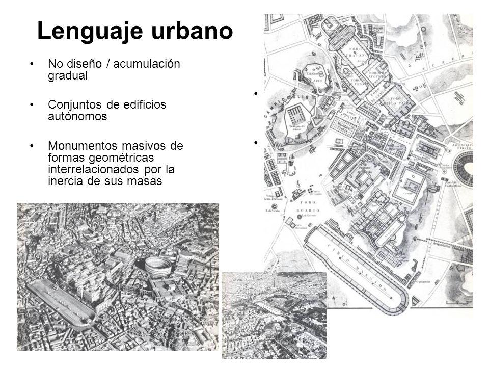 Lenguaje urbano No diseño / acumulación gradual