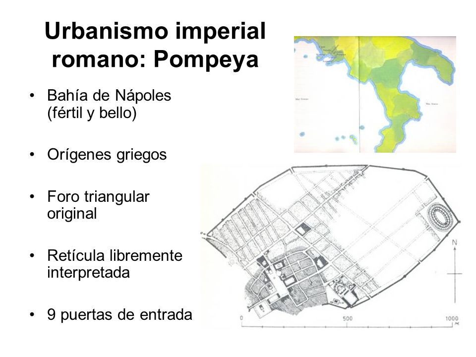 Urbanismo imperial romano: Pompeya