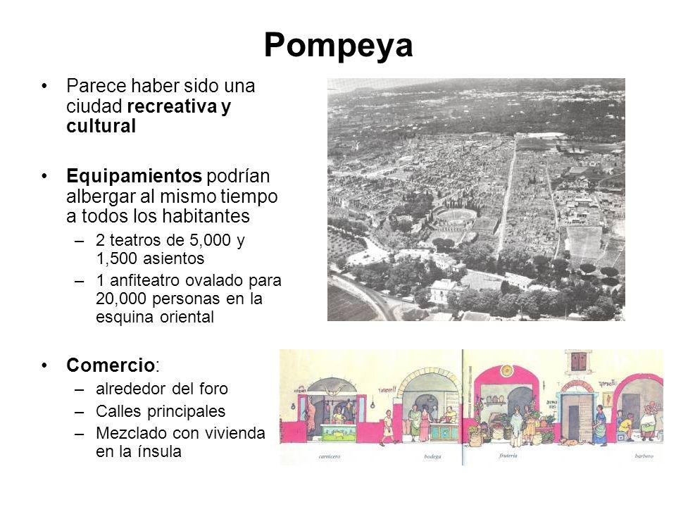 Pompeya Parece haber sido una ciudad recreativa y cultural