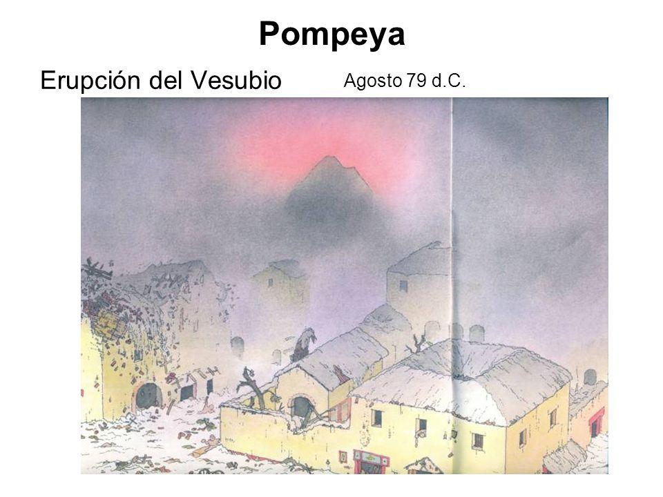 Pompeya Erupción del Vesubio Agosto 79 d.C.