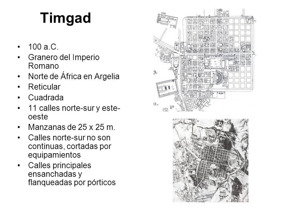 Timgad 100 a.C. Granero del Imperio Romano Norte de África en Argelia