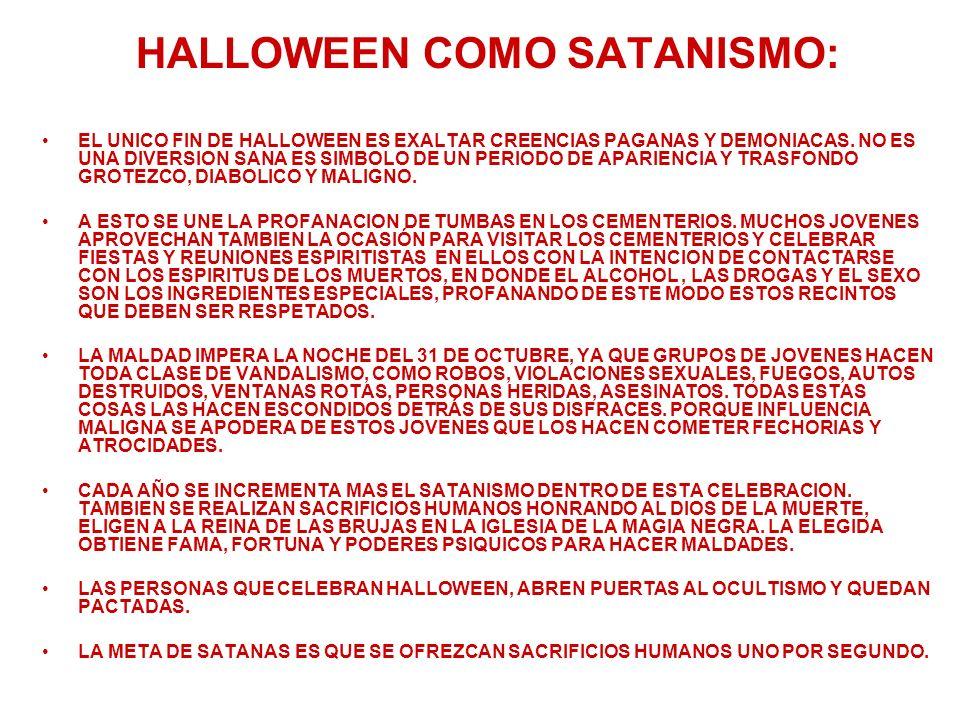 HALLOWEEN COMO SATANISMO: