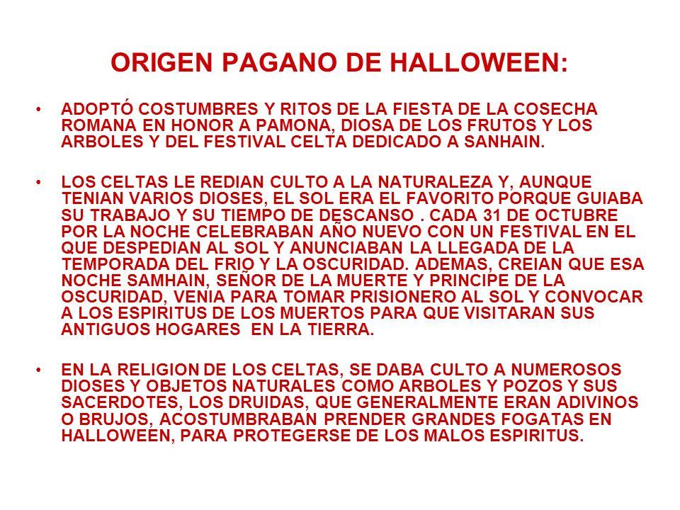 ORIGEN PAGANO DE HALLOWEEN: