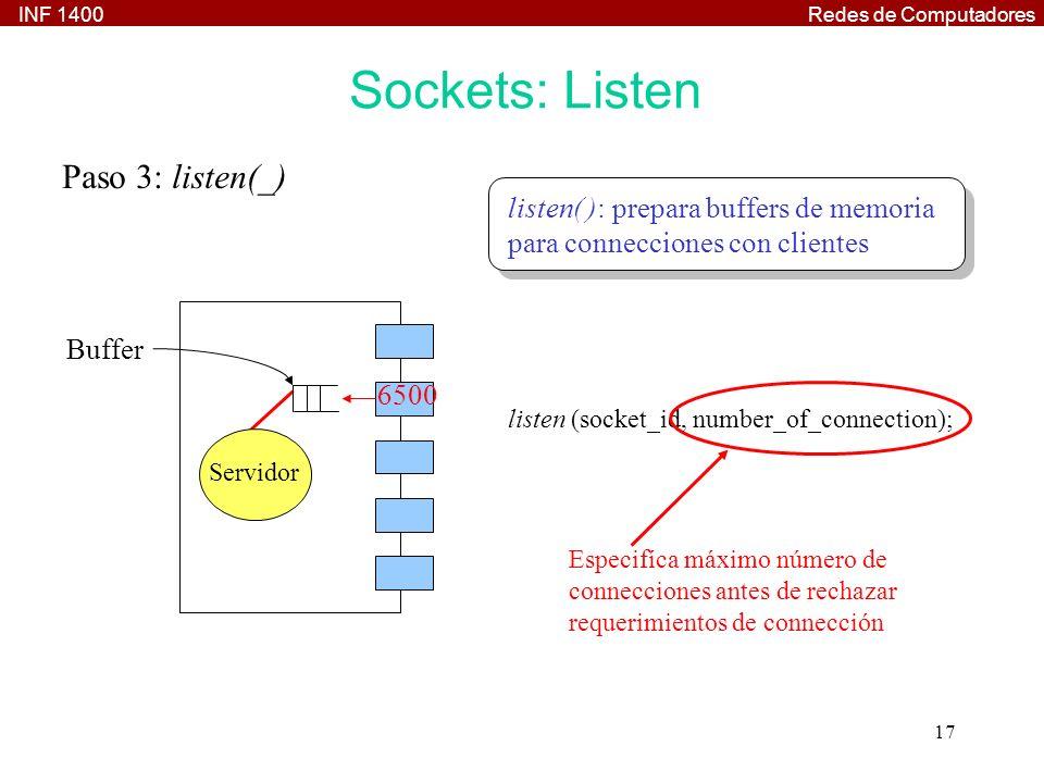 Sockets: Listen Paso 3: listen(_)