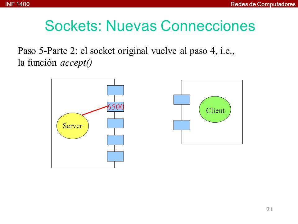 Sockets: Nuevas Connecciones