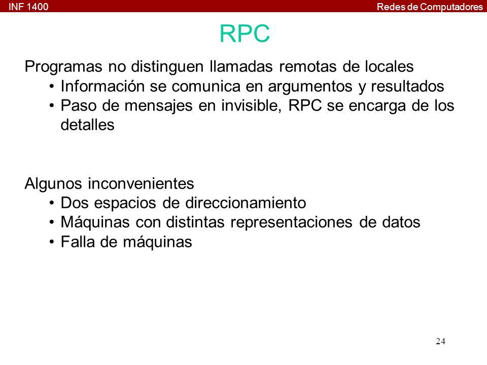 RPC Programas no distinguen llamadas remotas de locales
