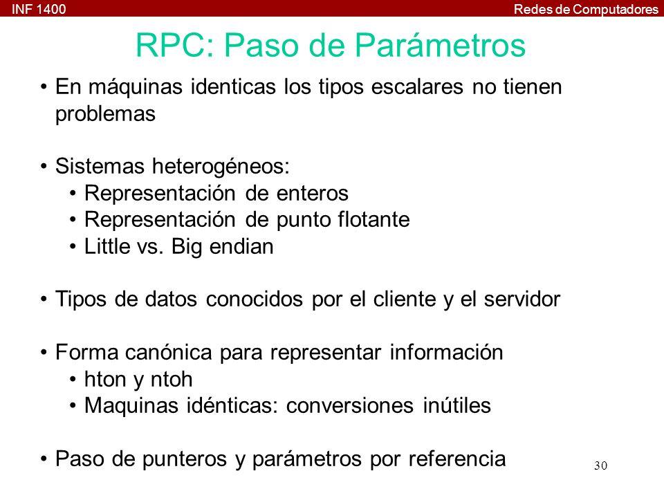 RPC: Paso de Parámetros