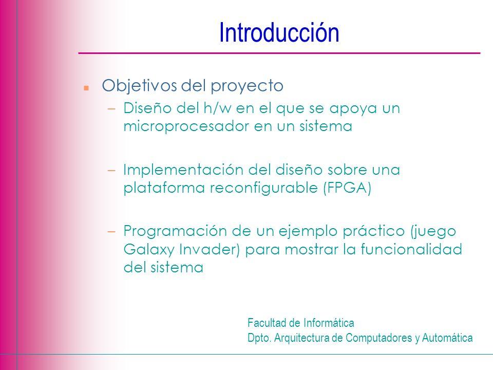 Introducción Objetivos del proyecto