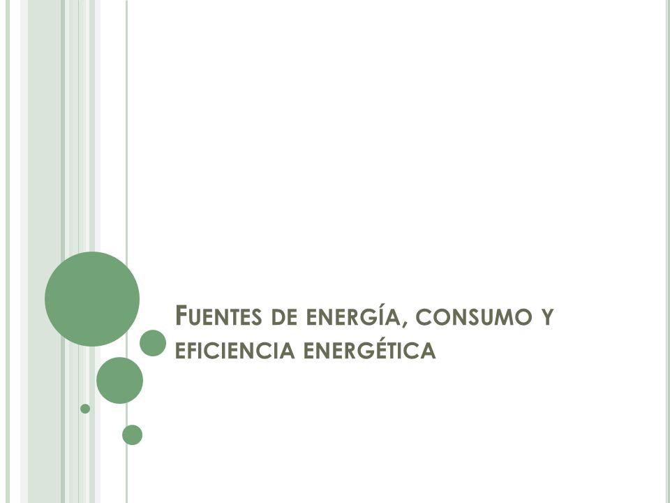 Fuentes de energía, consumo y eficiencia energética